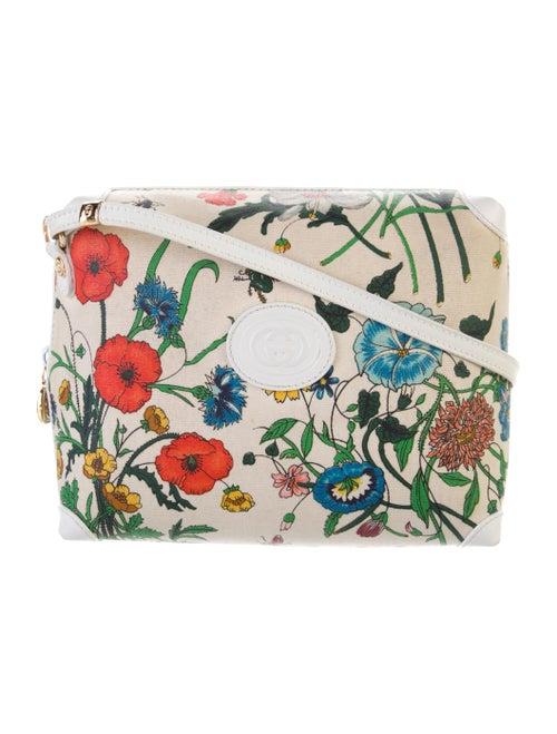 Gucci Vintage Flora Crossbody Bag Gold