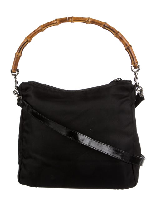 Gucci Vintage Bamboo Nylon Bag Black