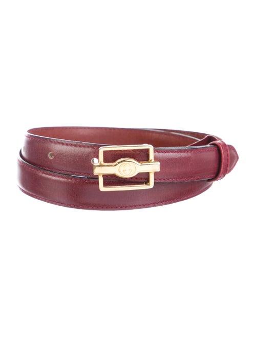 Gucci Skinny Leather Belt Gold