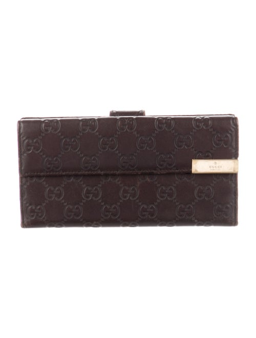 Gucci GG Signature Leather Wallet Brown