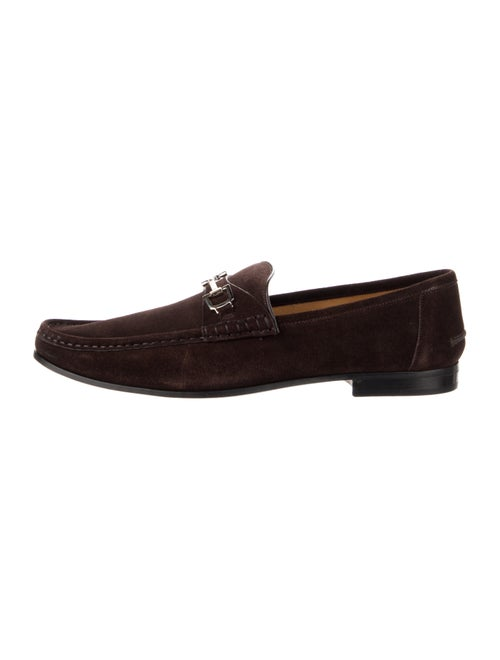 Gucci Horsebit Accent Suede Dress Loafers Brown