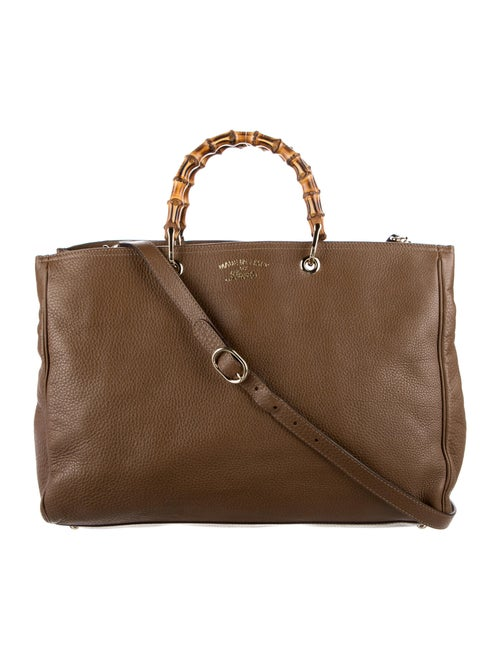 Gucci Large Bamboo Shopper Tote Brown