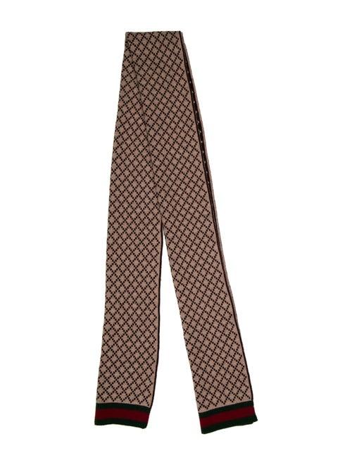 Gucci Wool Web Accent Scarf Wool