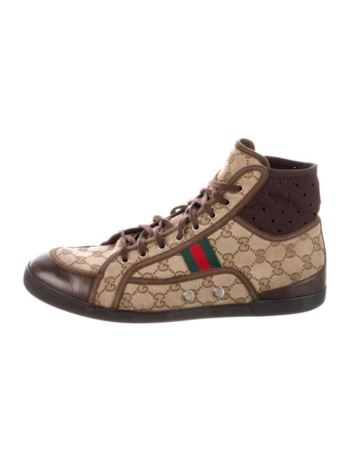 Gucci GG Canvas Sneakers Brown