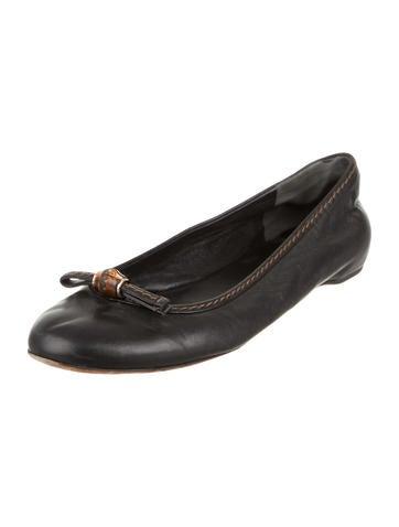 Leather Round-Toe Flats