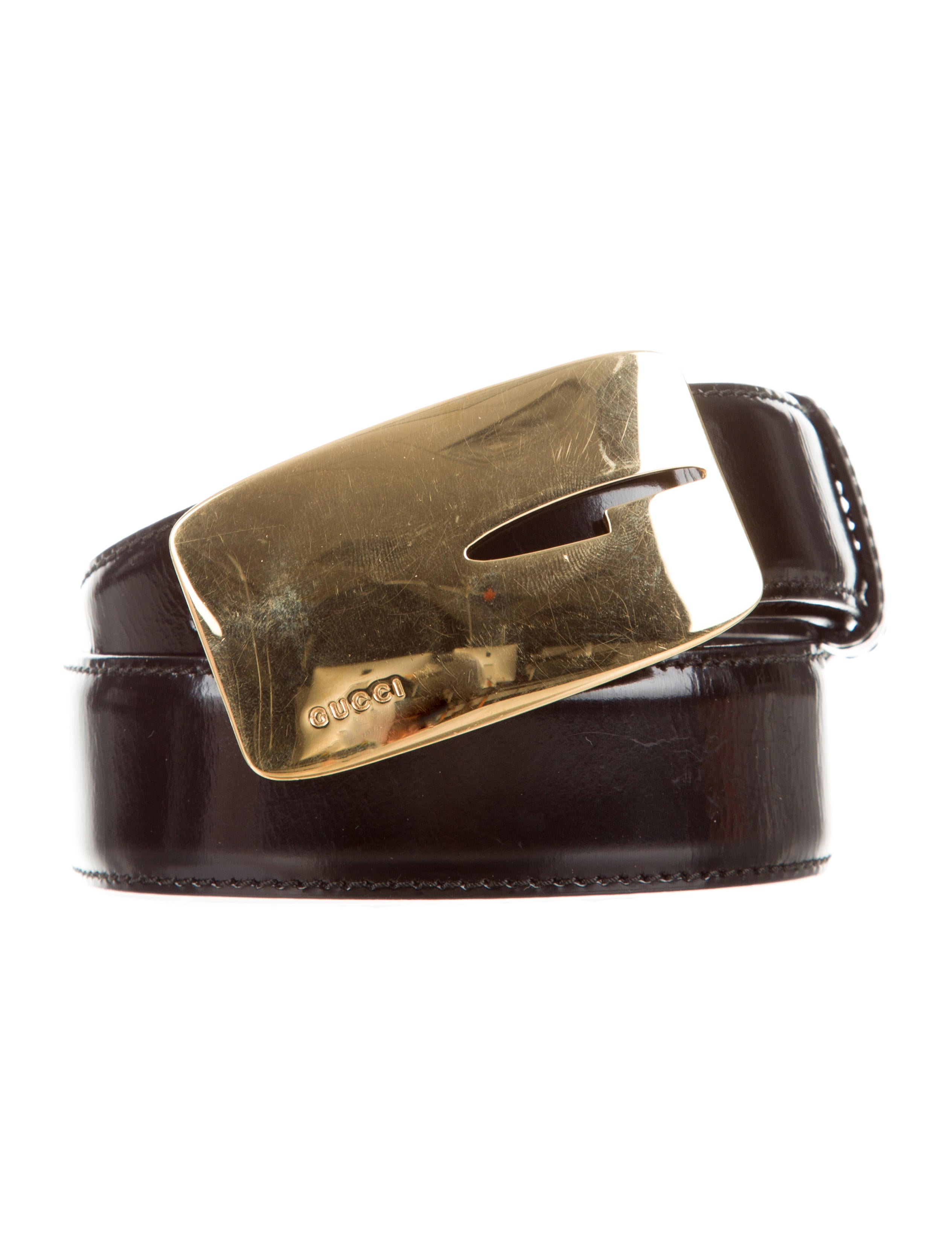 gucci black patent leather belt accessories guc79767