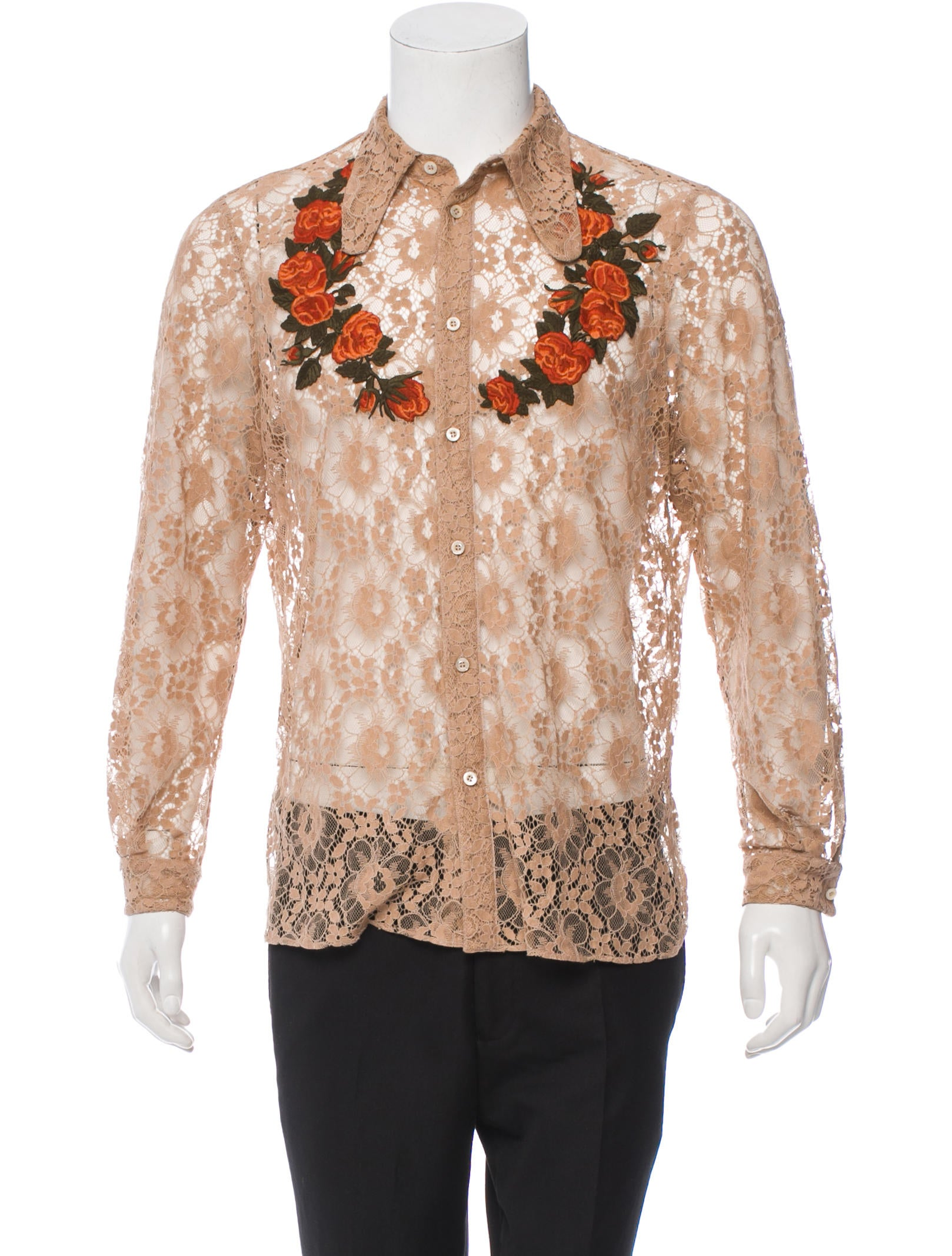 Gucci Floral Lace Western Shirt Clothing Guc80721
