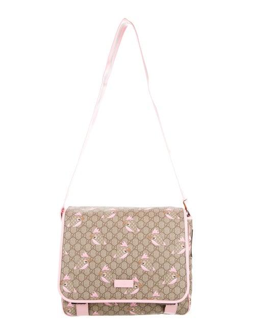 1ee18b31458e Gucci GG Supreme Zoo Birds Diaper Bag w/ Tags - Girls - GUC80838 ...