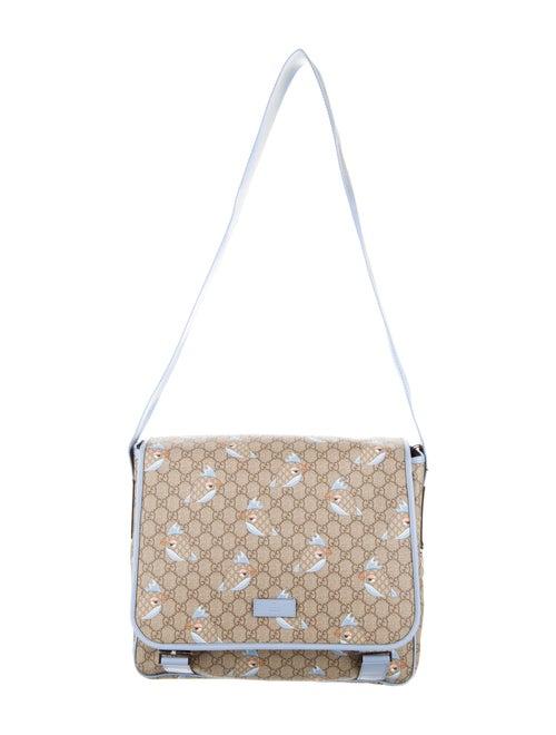 53c1edd1d7a Gucci GG Supreme Zoo Birds Diaper Bag w  Tags - Boys - GUC80840 ...