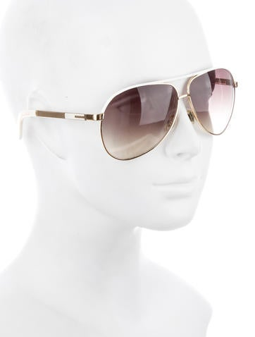 Gold-Tone Aviator Sunglasses