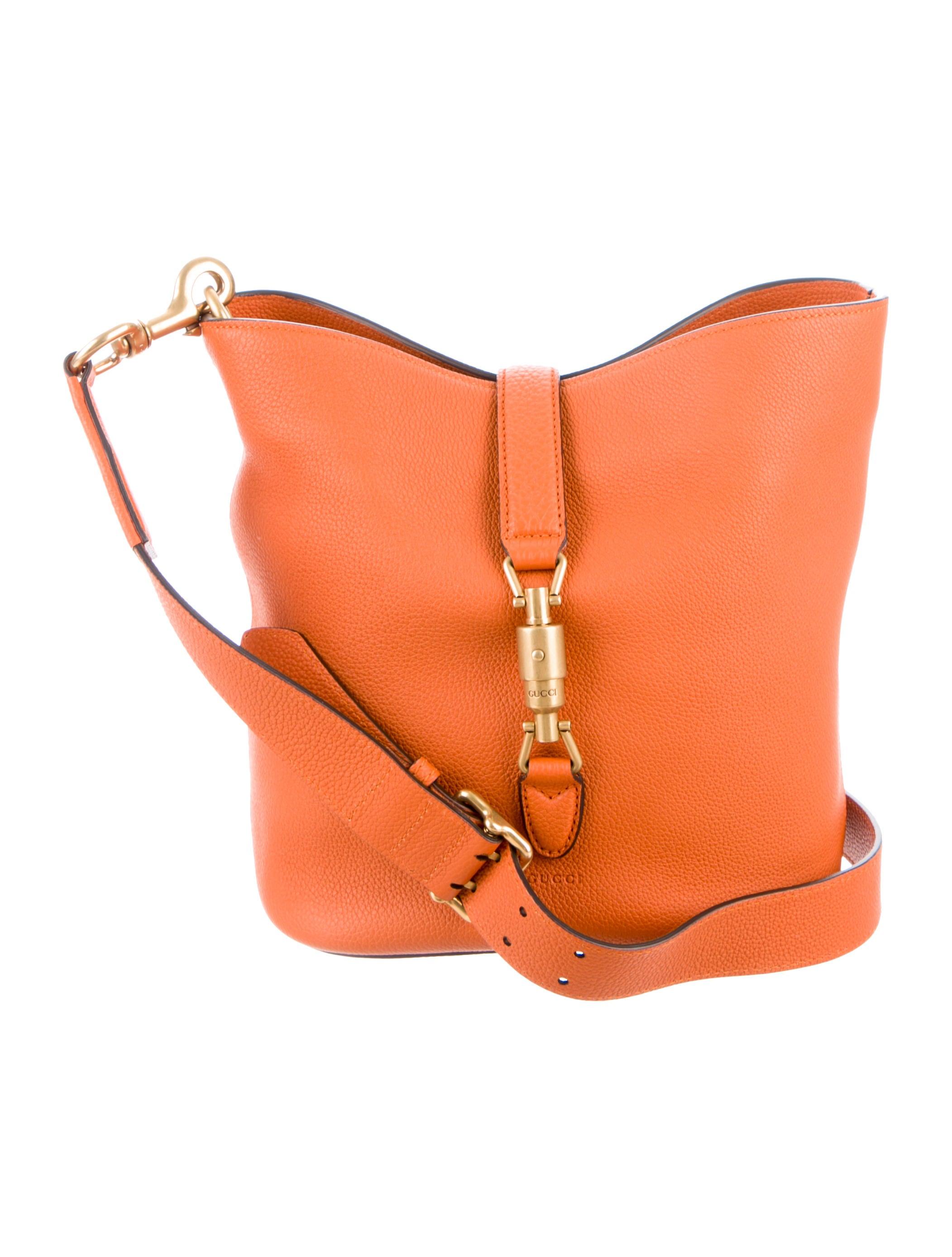 864346601d3 Gucci Jackie Soft Leather Bucket Bag - Handbags - GUC84620