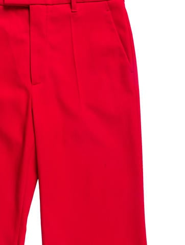 Wool Straght Leg Pants