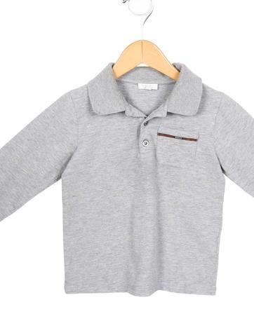 Gucci boys 39 long sleeve polo shirt boys guc87299 the for Long sleeved polo shirts for boys