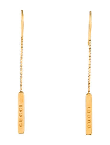 Logo Bar Drop Earrings