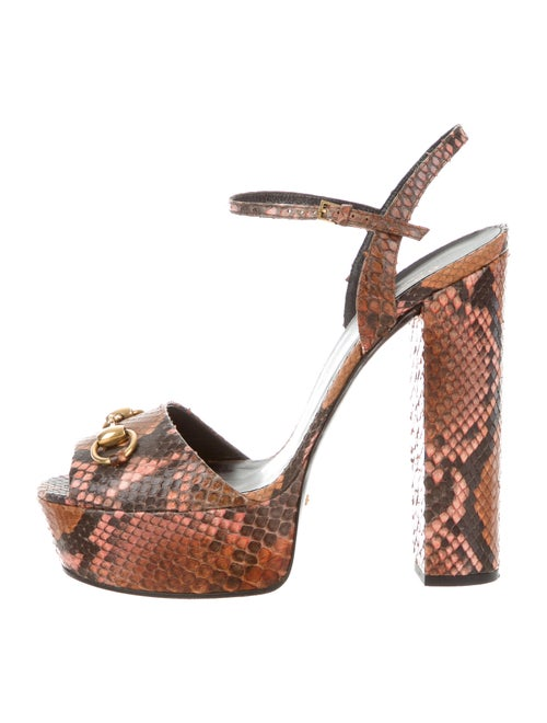 f5001ce33b Gucci Python Horsebit Sandals - Shoes - GUC87647 | The RealReal