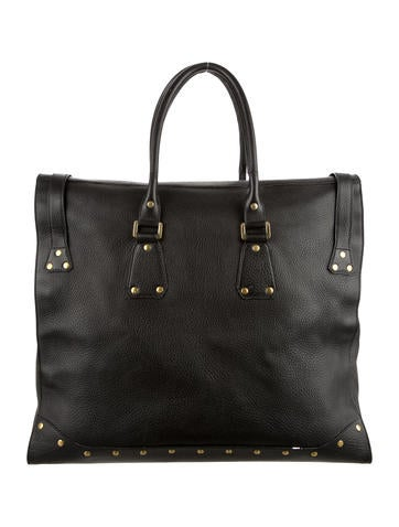 Studded Leather Weekender