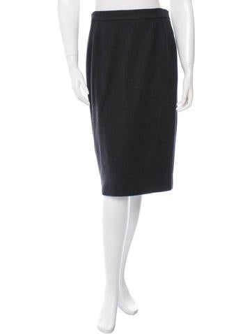 Gucci Wool Blend Pencil Skirt None