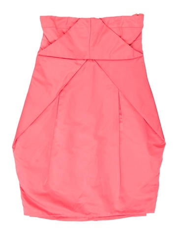 Gucci Strapless Ruched Dress None