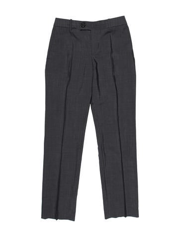 Mohair & Wool Double-Breasted Pantsuit