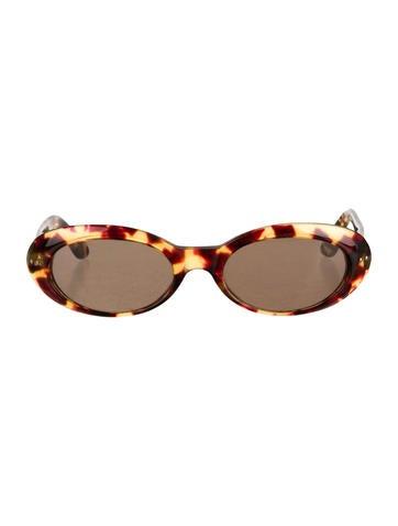 Tortoiseshell Logo-Embellished Sunglasses