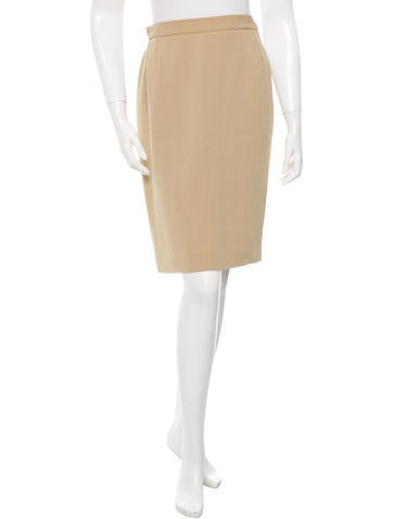 Gucci Knit Pencil Skirt None