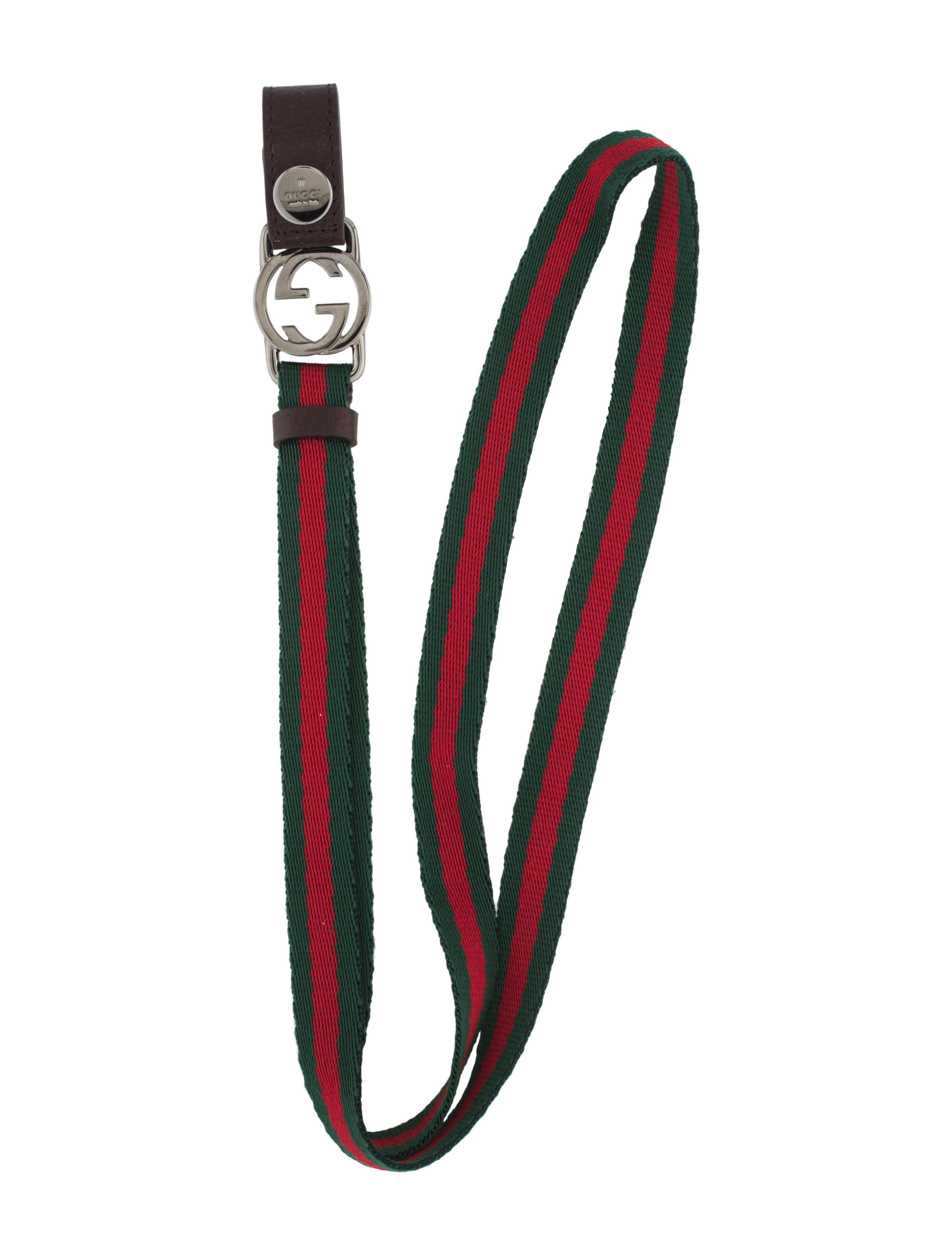Gucci Gg Web Lanyard Key Chain Accessories Guc94469 The Realreal