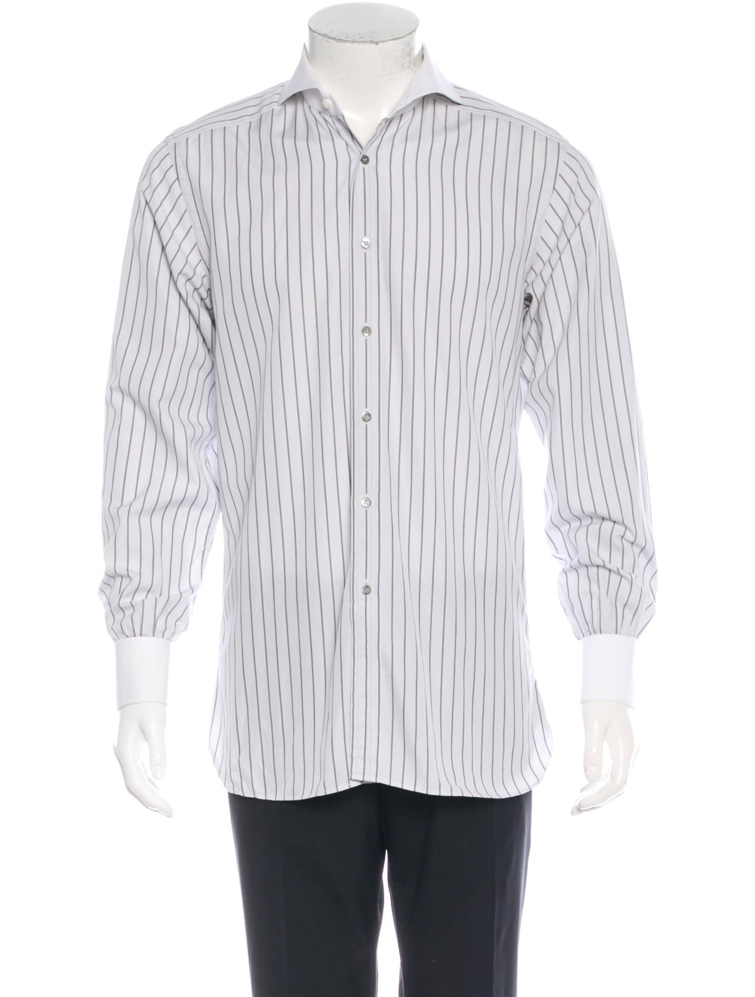 gucci striped french cuff button up shirt clothing. Black Bedroom Furniture Sets. Home Design Ideas