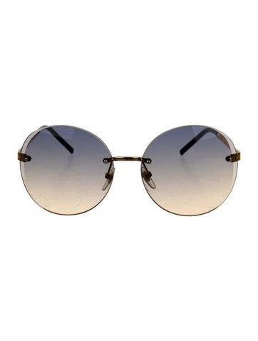 Rimless Gradient Lens Sunglasses
