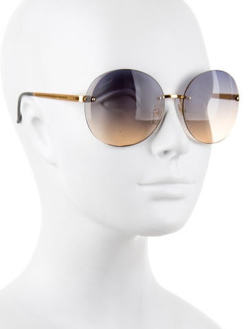Rimless Gradient Lens Sunglasses