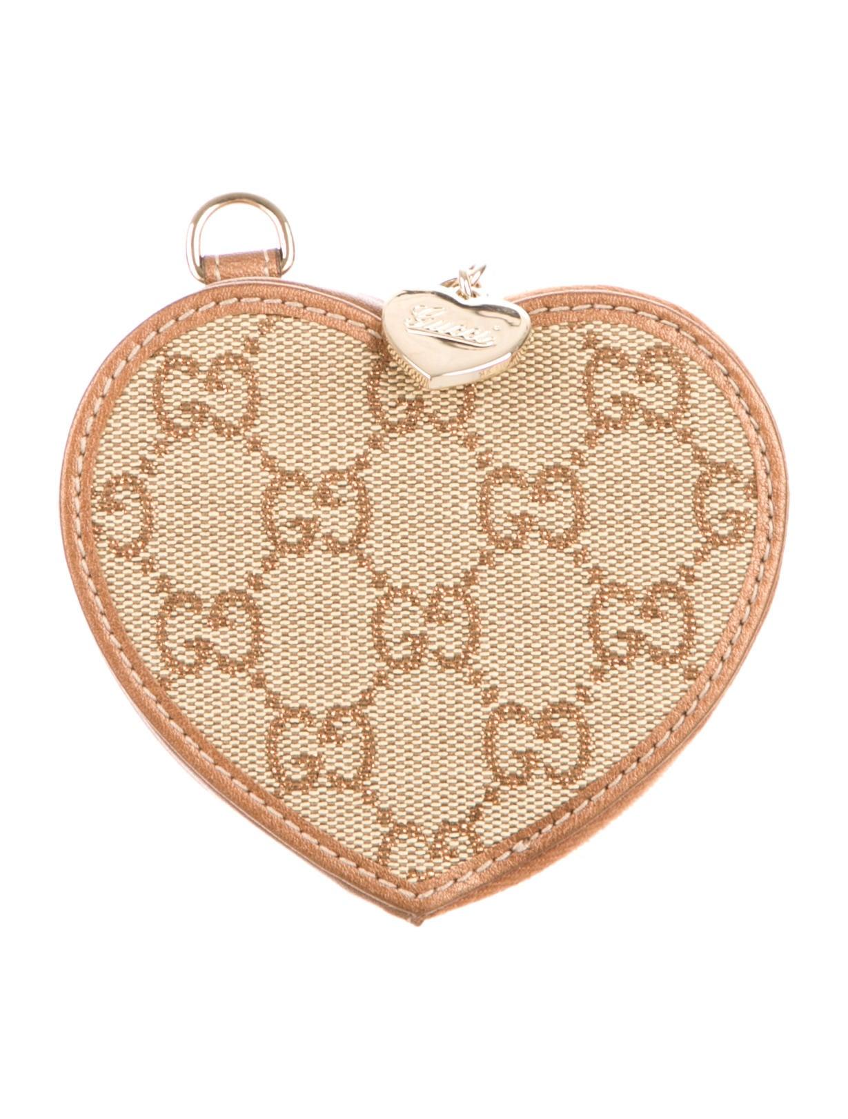 fec6030347eb Gucci Gg Canvas Heart Coin Purse Accessories Guc97708 The Realreal