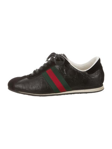 Leather Guccissima Sneakers