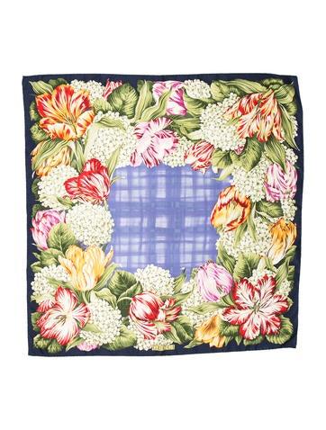Silk Floral Printed Scarf
