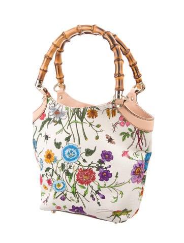 Flora Bamboo Handle Bag