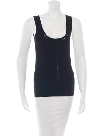Gucci Sleeveless Fitted Top None