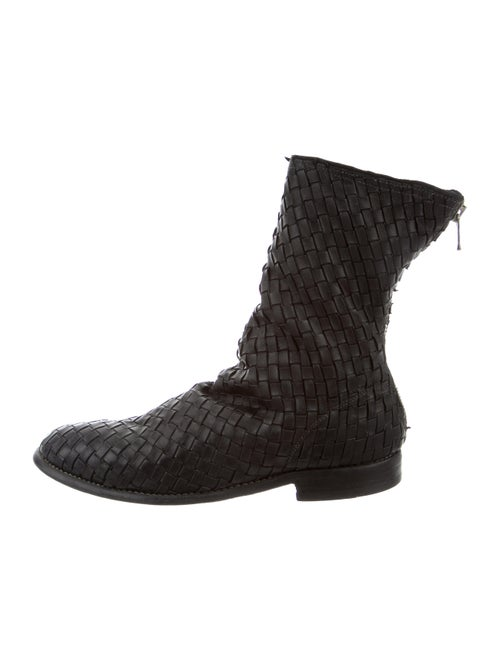 Guidi Woven Leather Boots black