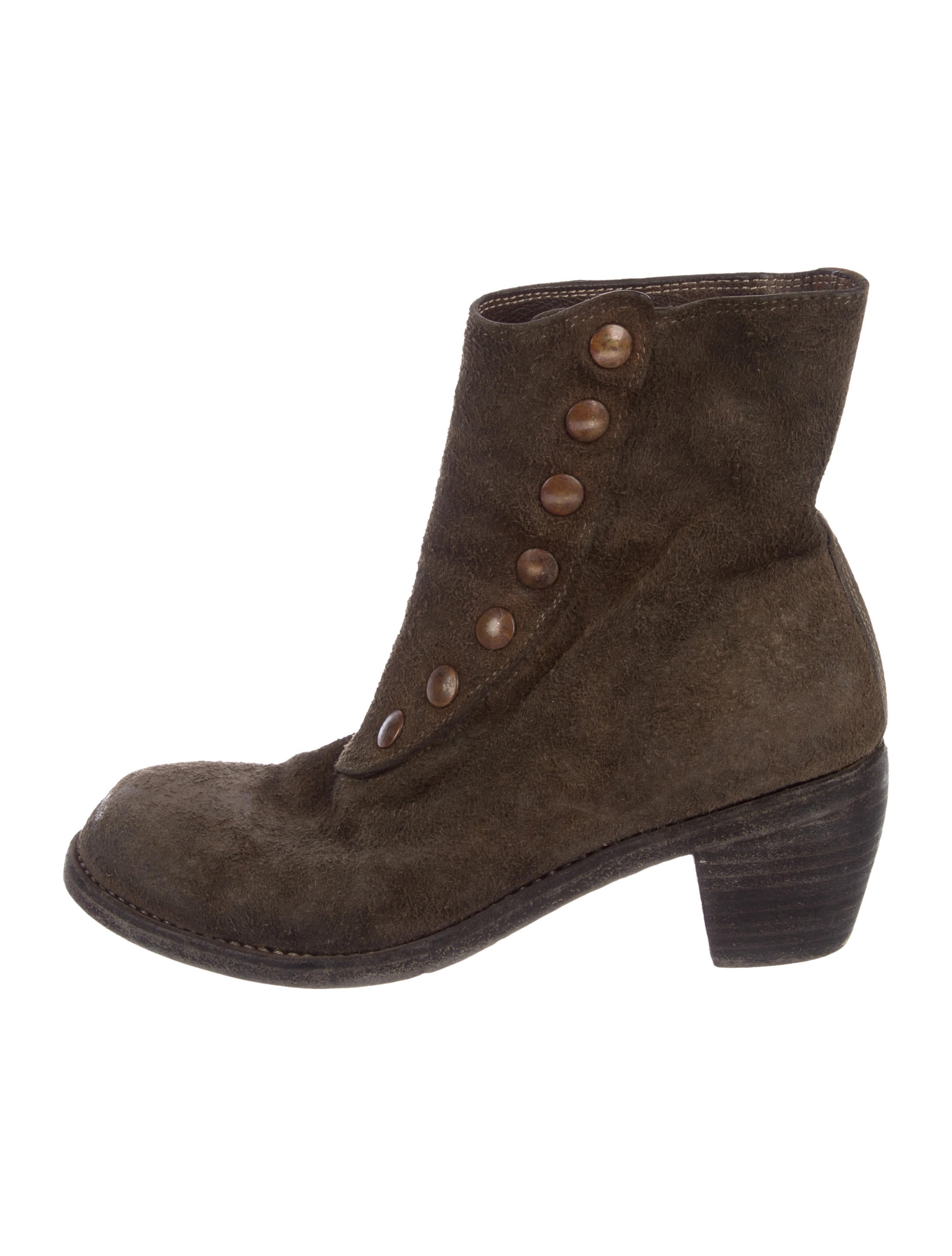 GUIDI Round toe ankle boots