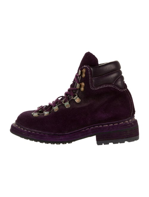 Guidi Hiking Suede Combat Boots Purple