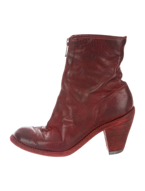 Guidi Leather Boots Red