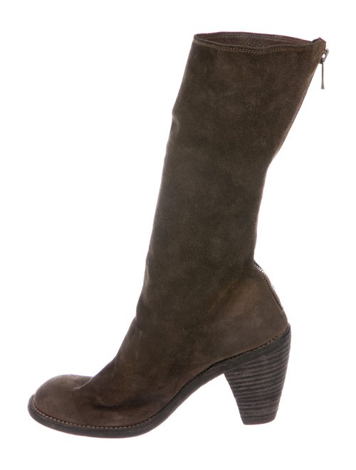 Guidi Suede Distressed Accents Sock Boots Brown