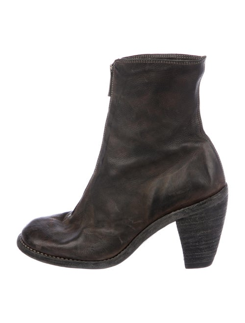 Guidi Leather Distressed Accents Boots Brown