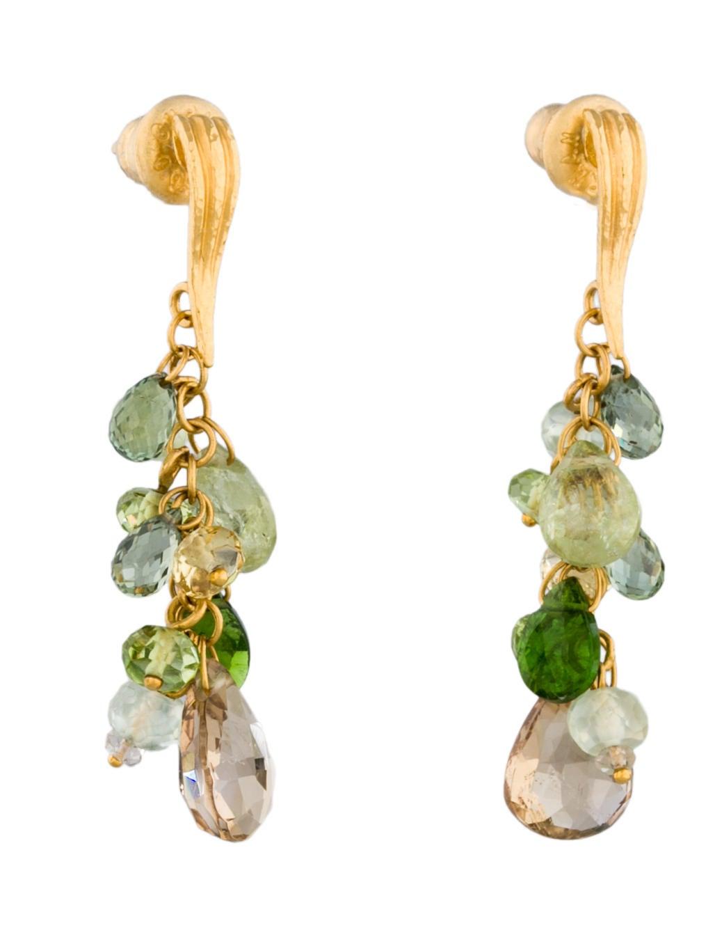 Gurhan 24k Tourmaline Cluster Drop Earrings EpkGkxzZ