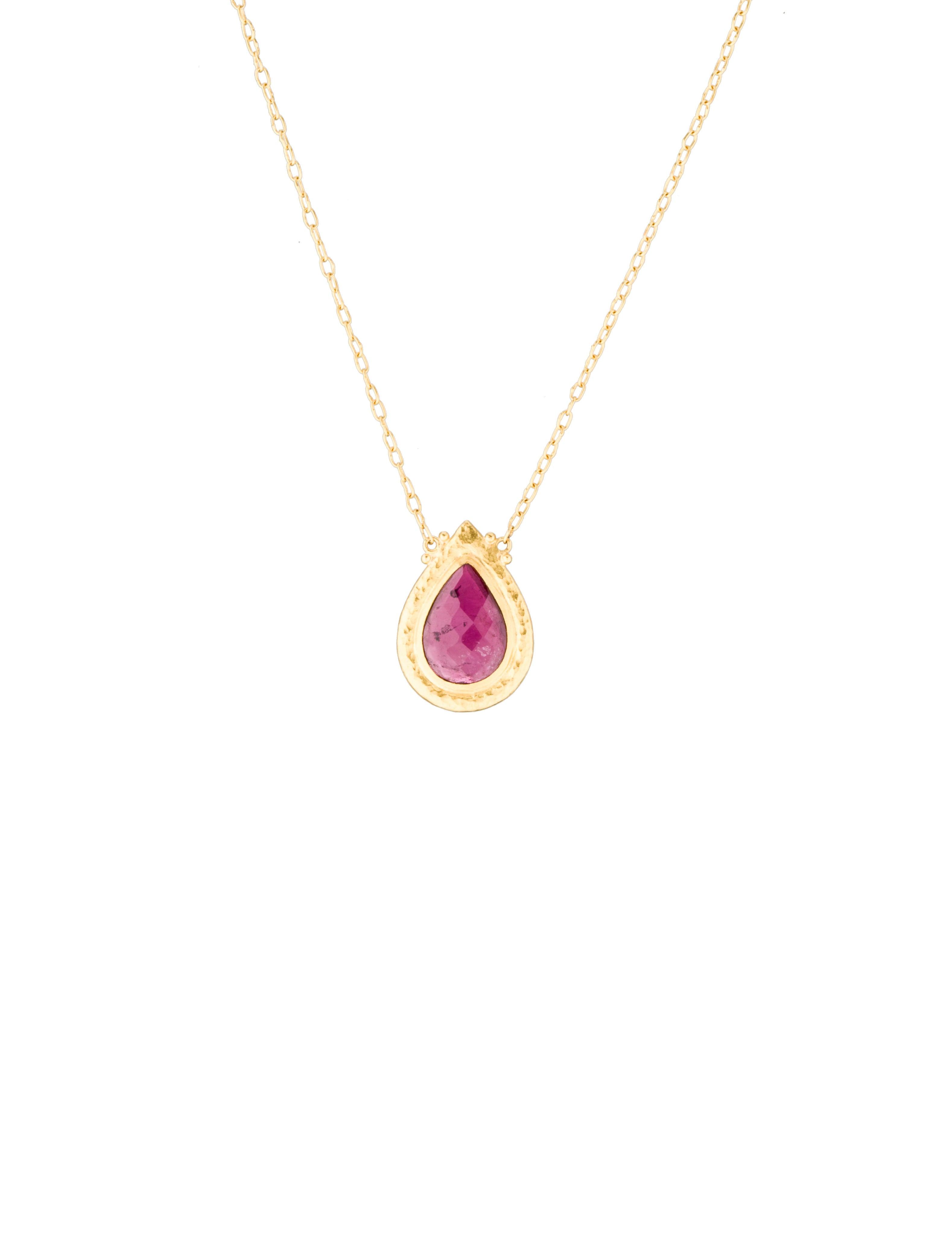 gurhan pink tourmaline tear drop necklace necklaces. Black Bedroom Furniture Sets. Home Design Ideas