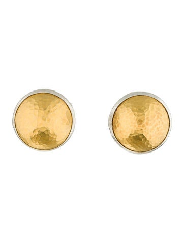 Round Hammered Earclips