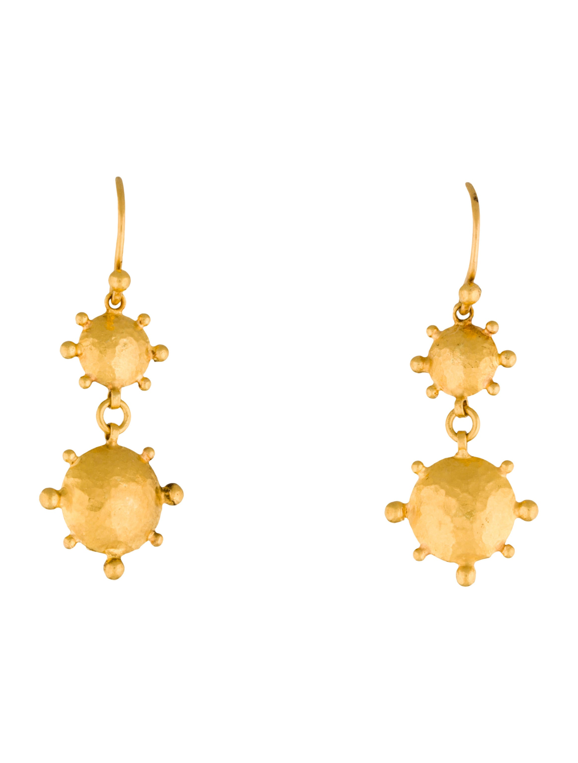 gold earrings stud raw pure store