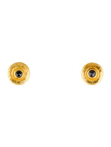 Gurhan 24k Round Black Diamond Stud Earrings rqHbBFAHyK