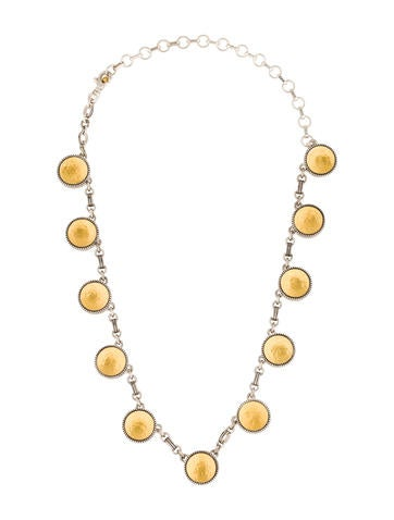Gurhan Two-Tone Disk Necklace
