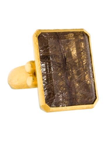 Gurhan Pandora's Box Rutilated Quartz Cocktail Ring