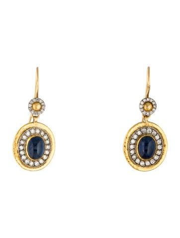 Gurhan Chaplet Sapphire & Diamond Drop Earrings