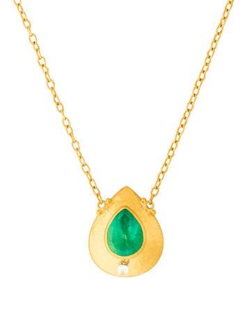 Gurhan Pandora's Box Emerald & Diamond Pendant Necklace