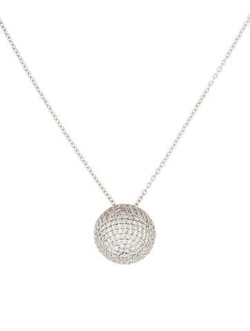 Gurhan Pavé Diamond Ball Pendant Necklace